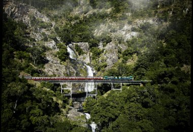 003 Queensland Rail Travel Stony Creek Falls Aerial 2762x3650